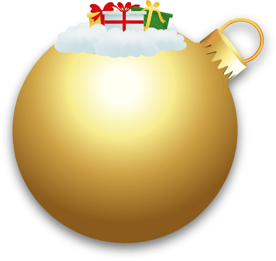 large golden Chirstmas bauble