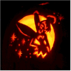 Clumsy the Elf's Halloween pumpkin
