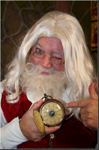 How many days until Christmas? Santa is counting the days down.