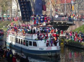Saint Nicholas arriving in the Netherlands from Spain