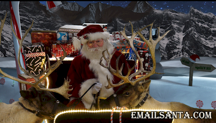 Does Santa exist? Well, here is Santa Claus with his reindeer about to fly