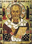 image of Saint Nicholas, who was born a long time ago