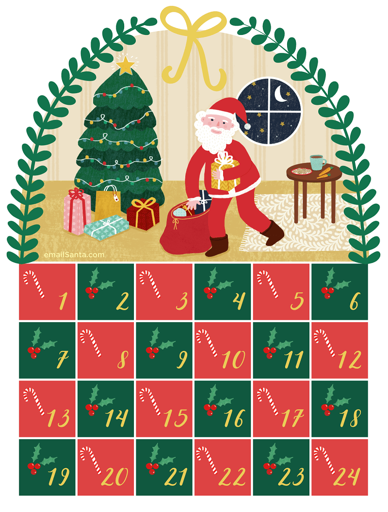 advent calendar graphic